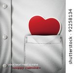 your heart next to mine  happy... | Shutterstock .eps vector #92258134