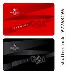 club plastic card design... | Shutterstock .eps vector #92268196