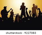 rock and roll | Shutterstock .eps vector #9227083