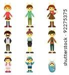 rabbit family | Shutterstock .eps vector #92275375