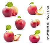 Collection Of Red Apples With...