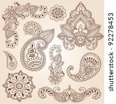 henna mehndi doodles abstract... | Shutterstock .eps vector #92278453