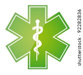 green medical sign isolated... | Shutterstock .eps vector #92282836