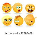 sweet smileys | Shutterstock . vector #92287420