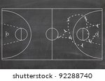strategy or tactic plan of a... | Shutterstock . vector #92288740