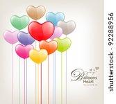 colorful balloon heart...   Shutterstock .eps vector #92288956