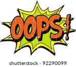 oops | Shutterstock .eps vector #92290099
