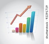 eps10 business graph with arrow ... | Shutterstock .eps vector #92291719