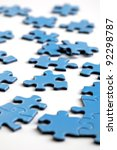 Jigsaw puzzle pieces business concept for strategy and organization - stock photo