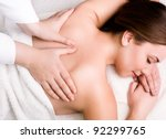pretty young women relaxing in... | Shutterstock . vector #92299765
