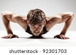 sexy young fashion sport man ... | Shutterstock . vector #92301703