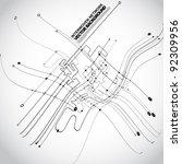 abstract background vector | Shutterstock .eps vector #92309956