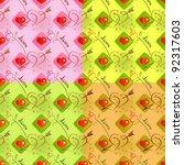 love seamless pattern   with... | Shutterstock .eps vector #92317603