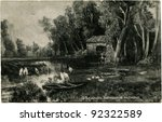 Постер, плакат: Reproduction of antique postcard