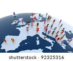 european countries 3d... | Shutterstock . vector #92325316