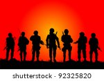 Soldiers Silhouettes On A File...