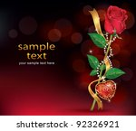 beautiful roses with ribbon and ...