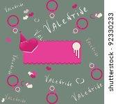 valentines day background.... | Shutterstock .eps vector #92330233