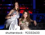 young woman in evening dress in ... | Shutterstock . vector #92332633