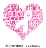 breast cancer awareness ribbon... | Shutterstock . vector #92336032