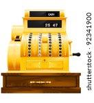 antique cash register   Shutterstock .eps vector #92341900