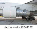 Aircraft Jet Engine - stock photo