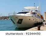 luxury yacht | Shutterstock . vector #92344450