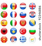 europe flags buttons  part one | Shutterstock .eps vector #92346886