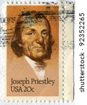 usa   circa 1983  postage stamp ... | Shutterstock . vector #92352265