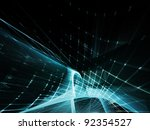 abstract blue and black...   Shutterstock . vector #92354527
