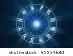 zodiac signs horoscope with...   Shutterstock . vector #92354680