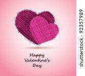 valentine's day card   Shutterstock .eps vector #92357989