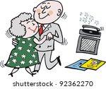 Vector Cartoon Of Senior Coupl...