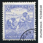 hungary   circa 1916  a stamp... | Shutterstock . vector #92368168