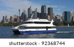Water Taxi And View Of Sydney...