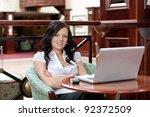 portrait of casual female... | Shutterstock . vector #92372509