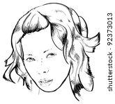 beauty girl face | Shutterstock .eps vector #92373013
