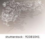 refine wedding background with...   Shutterstock .eps vector #92381041