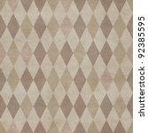 seamless retro harlequin... | Shutterstock . vector #92385595