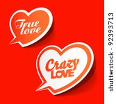 crazy and true love   enamored... | Shutterstock .eps vector #92393713