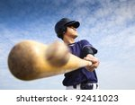 baseball player hitting | Shutterstock . vector #92411023