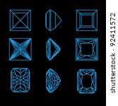 collection square shapes of a... | Shutterstock .eps vector #92411572