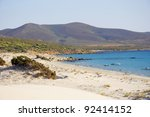 le dune beach  south of... | Shutterstock . vector #92414152