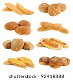 collection of fresh bread  ...   Shutterstock . vector #92418388