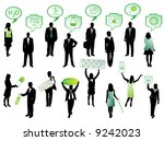 illustration of people and... | Shutterstock .eps vector #9242023