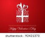 valentine's day illustration   Shutterstock .eps vector #92421373