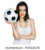 Young Adult Woman With Ball....