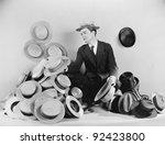 man sitting on the floor... | Shutterstock . vector #92423800