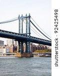 steel bridge in the city of new ... | Shutterstock . vector #92425498