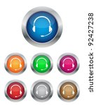 call center buttons in various... | Shutterstock .eps vector #92427238